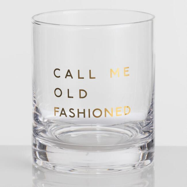 Call Me Double Old Fashioned Glasses Set of 4