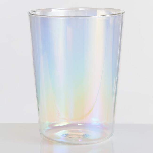 Lustre Iridescent Double Old Fashioned Glasses Set of 4