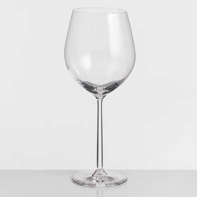 Long Stem Oversized Burgundy Wine Glasses Set of 4