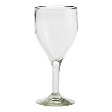 Recycled Glass Goblets Set of 4