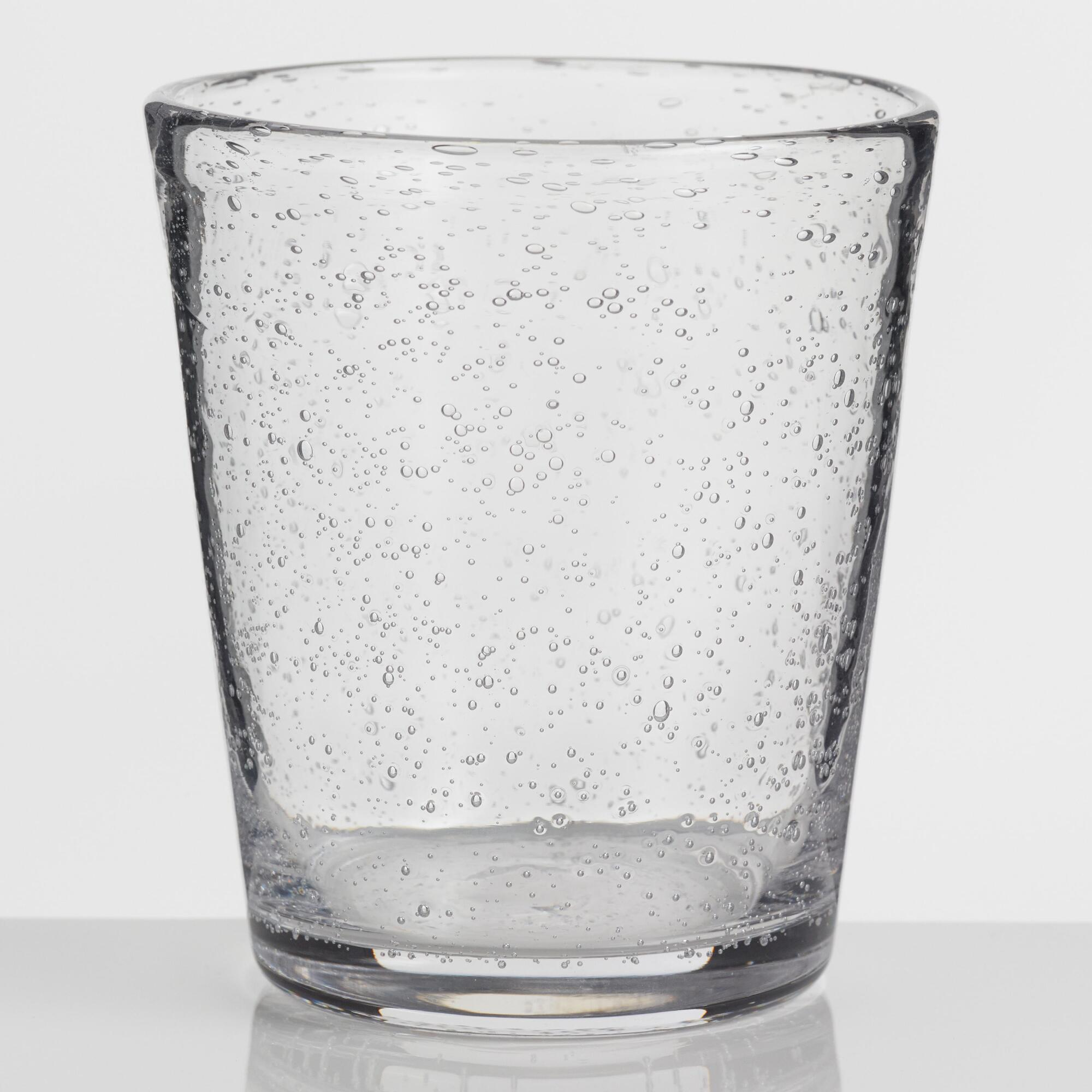 Short Clear Bubble Glasses Set of 4 by World Market