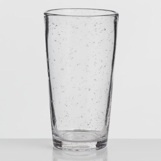 Tall Clear Bubble Glasses Set of 4