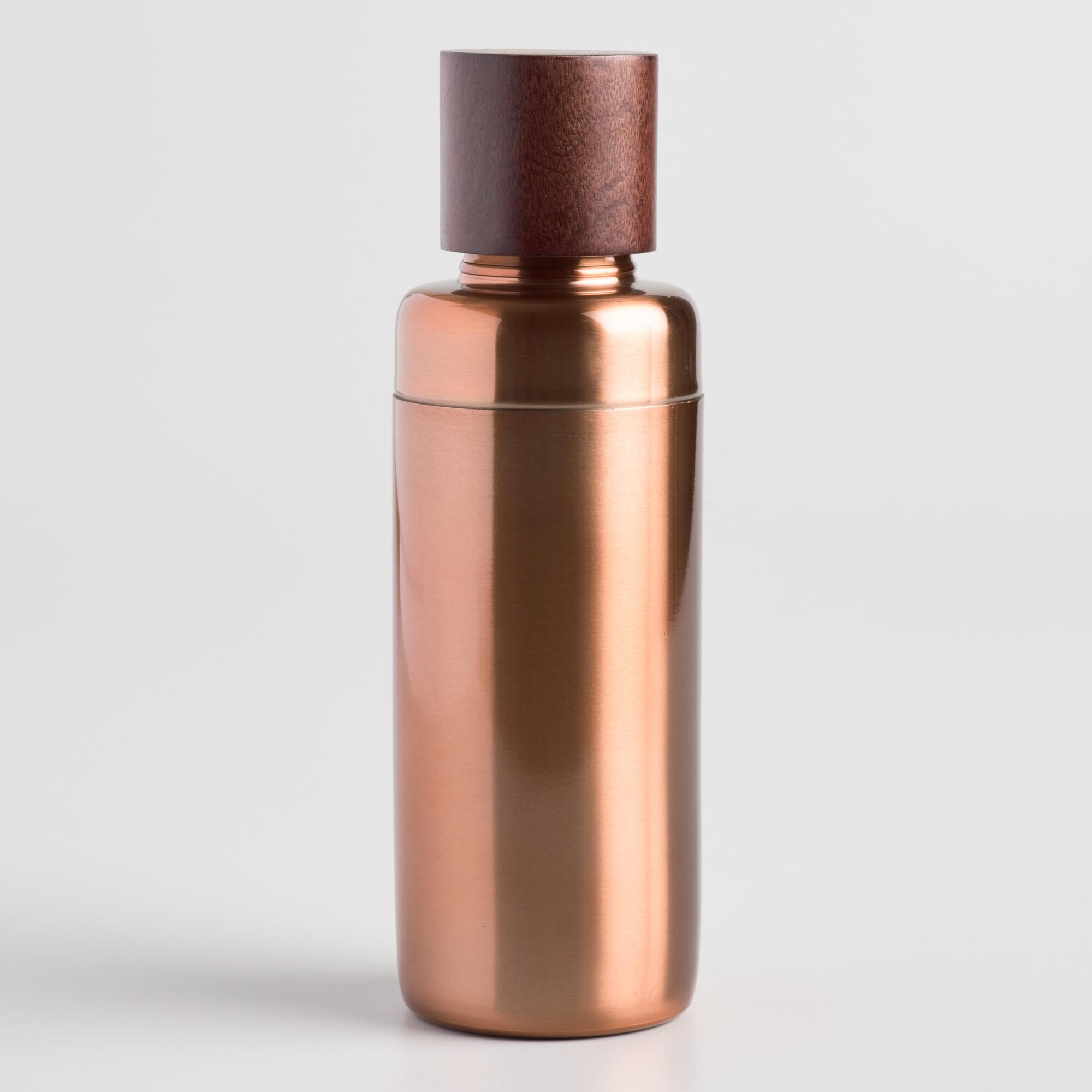 Copper and Wood Cocktail Shaker by World Market