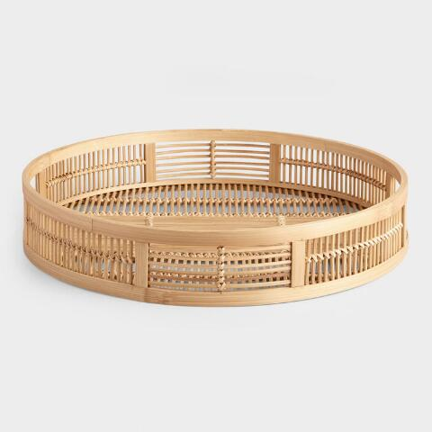 Miraculous Round Natural Bamboo Tray Gmtry Best Dining Table And Chair Ideas Images Gmtryco