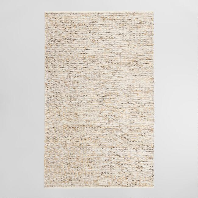 Ivory Chunky Sweater Style Harbin Indoor Outdoor Rug | World Market