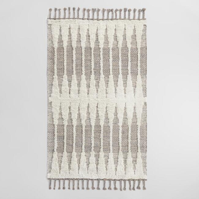 Taupe Double Diamond Woven Kilim Astrid Indoor Outdoor Rug