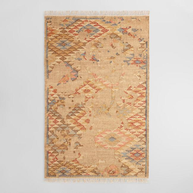 Multicolor Abstract Flatweave Jute Blend Sienna Area Rug