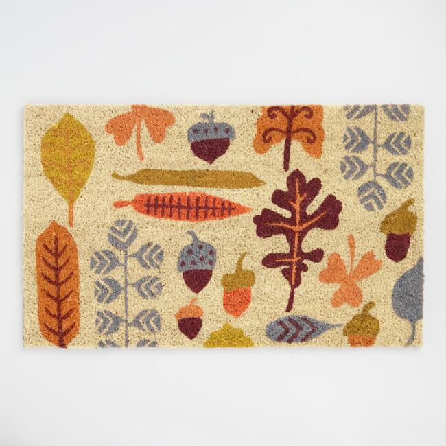 Fall Foliage Coir Doormat