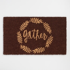 """Gather"" door mat"
