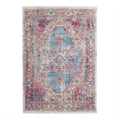 Blue and Ivory Persian Style Shilah Area Rug
