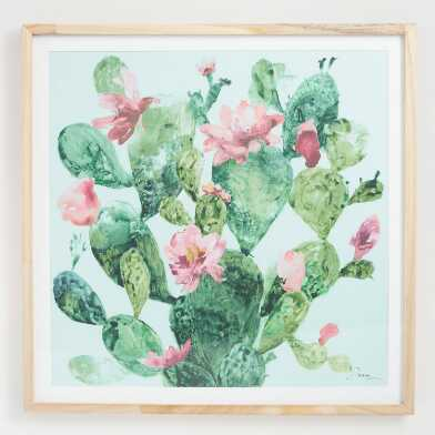 Prickly Pear By Anna Dusza Framed Wall Art