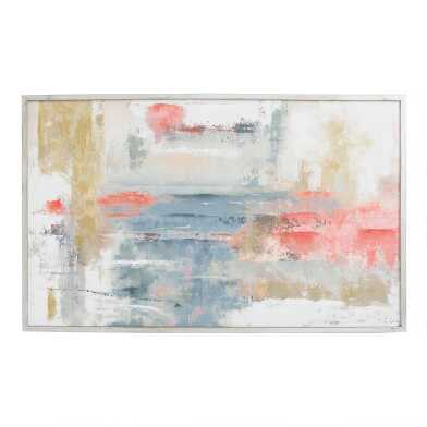 Blush Abstract By Joasia Pawlak Framed Canvas Wall Art