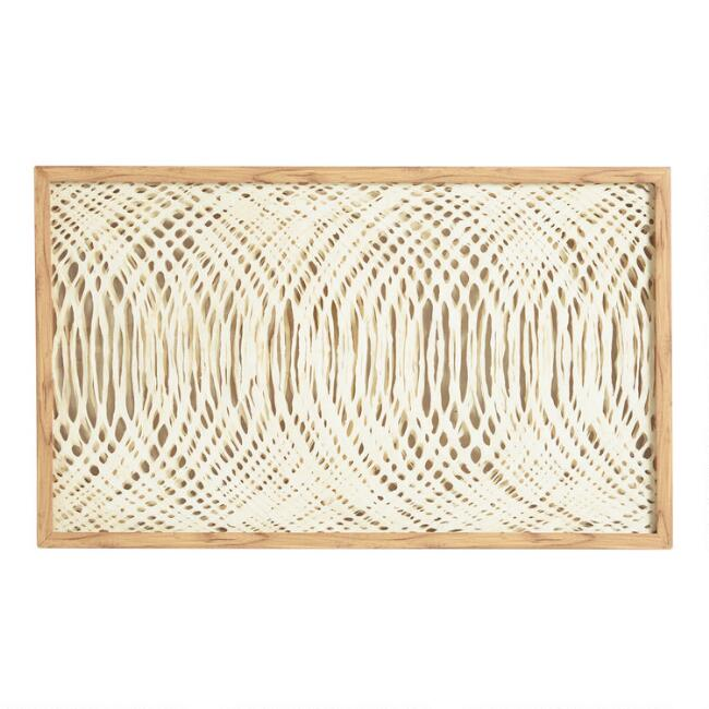 Waves Rice Paper Shadow Box Wall Art