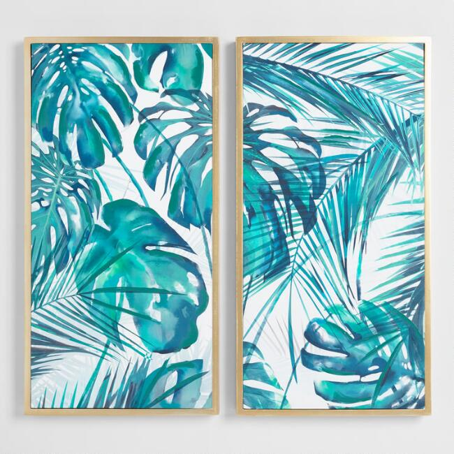 Green Fern by George Chase Diptych Wall Art Set of 2