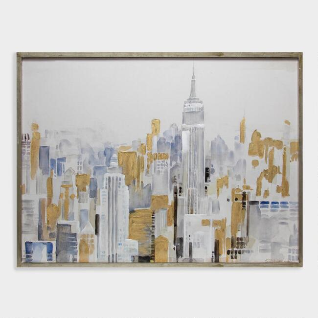 Golden City Wall Art