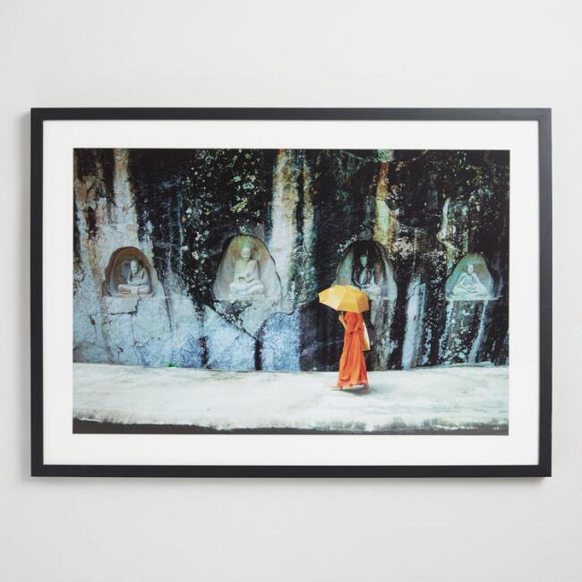 Temple Scene by Nicky Almasy Wall Art