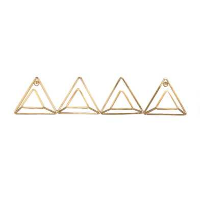 Gold Wire Triangle Wall Rack
