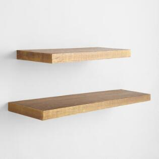 Hammered Br Ledge Wall Shelves
