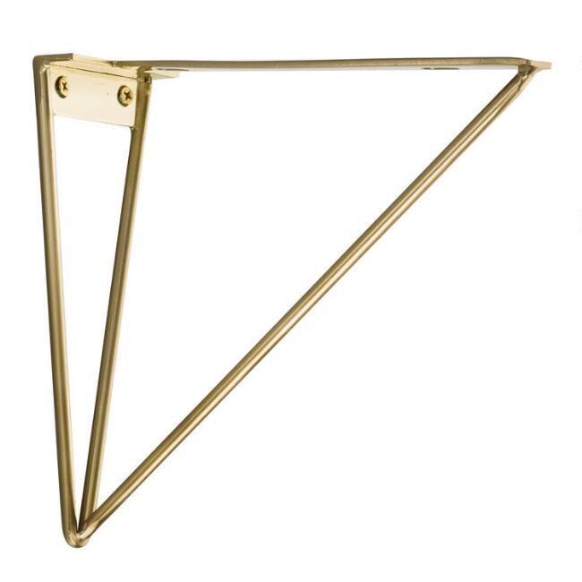 Geometric Gold Wire Mix & Match Shelf Brackets Set of 2