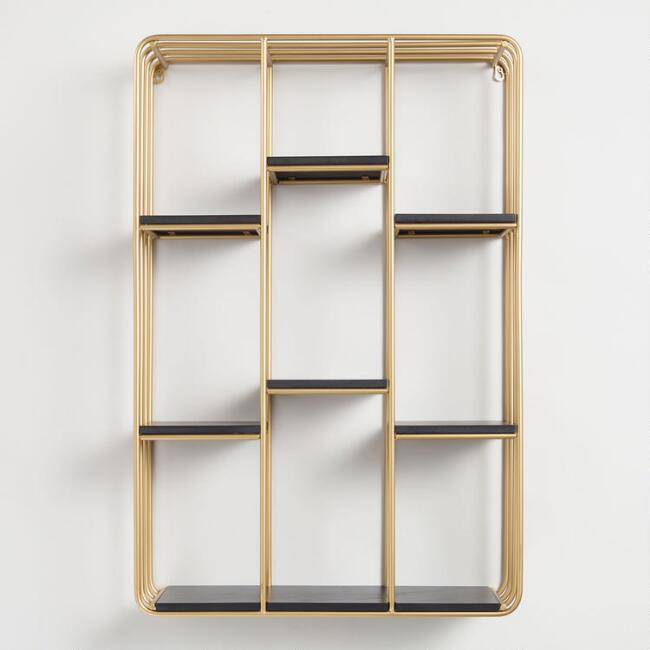 Gold and Black Wall Shelf