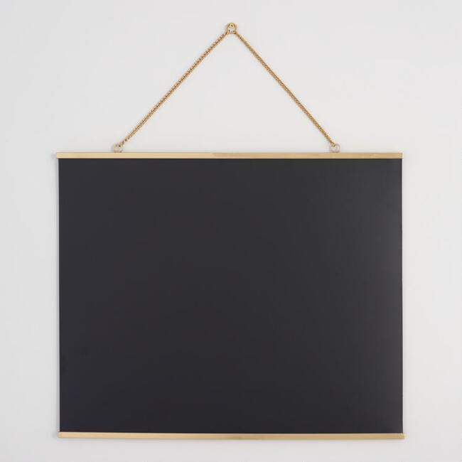 Magnetic Chalkboard with Gold Frame