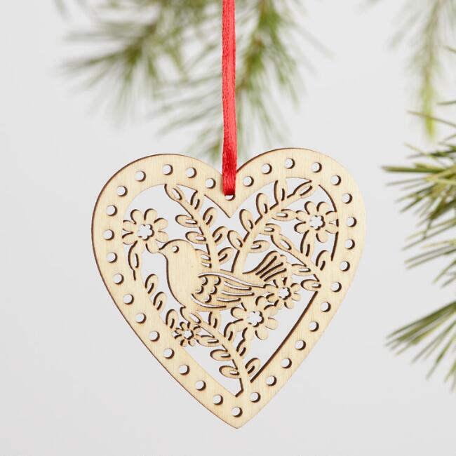 Wood Snowflakes Boxed Ornaments 12 Pack