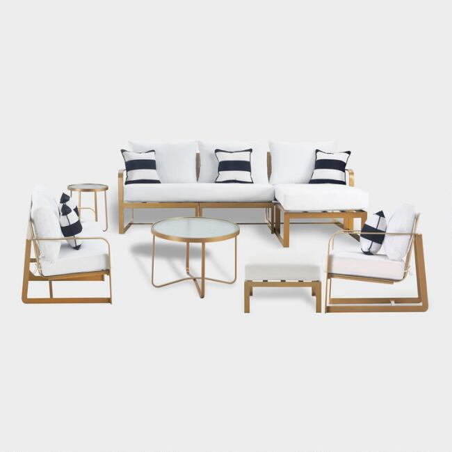 Gold Metal Laila Outdoor Furniture Collection