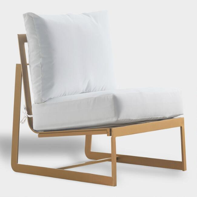 Gold Laila Armless Outdoor Occasional Chair