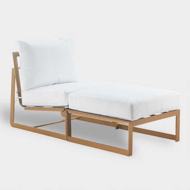 Chaise Lounge Outdoor.Gold Laila Outdoor Occasional Chaise Lounge
