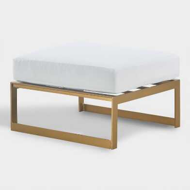 Gold Laila Outdoor Occasional Ottoman