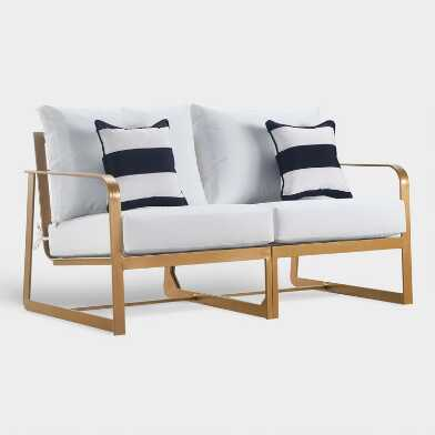 Gold Laila Outdoor Occasional Sofa