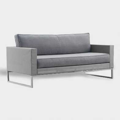 Gray Mesh Moreau Outdoor Occasional Sofa