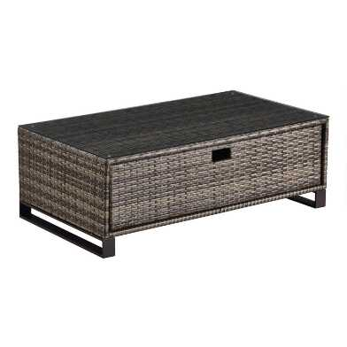 Brown All Weather Nasim Outdoor Occasional Coffee Table