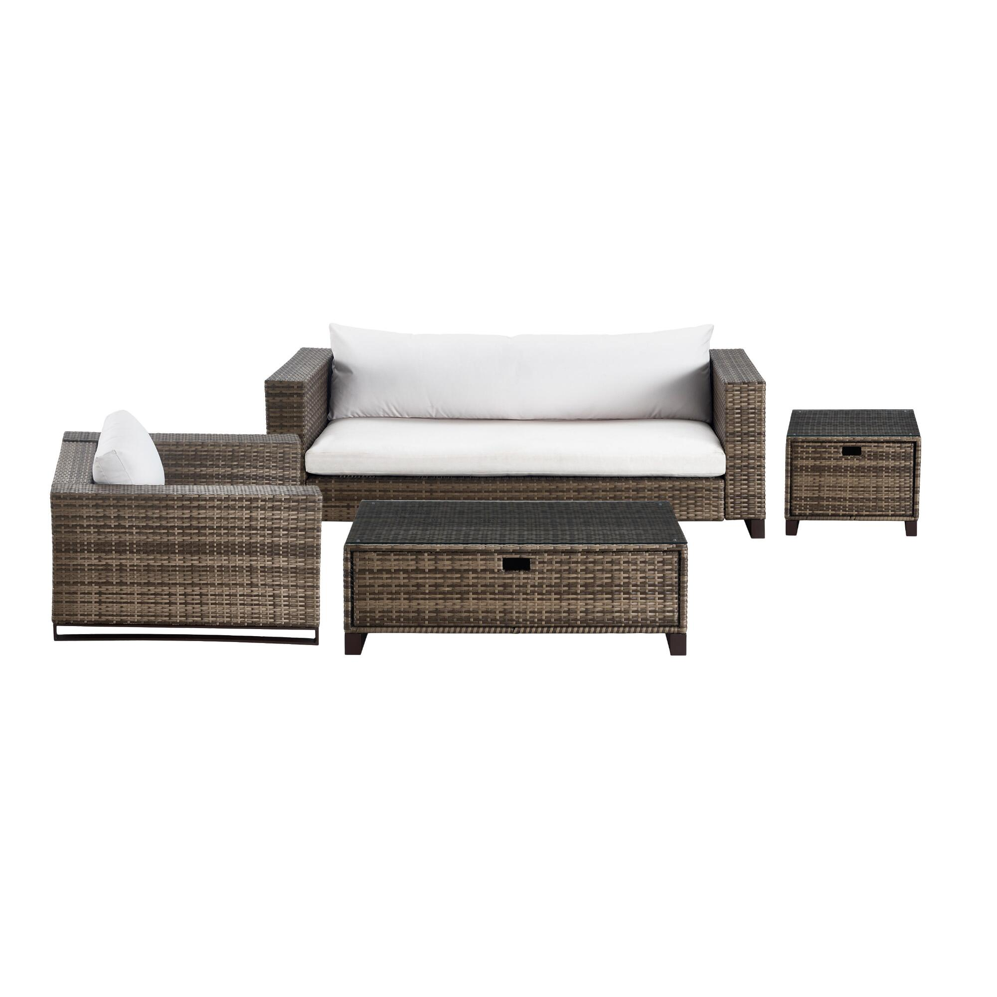 Brown All Weather Wicker Nasim Outdoor Patio Occasional Collection by World Market