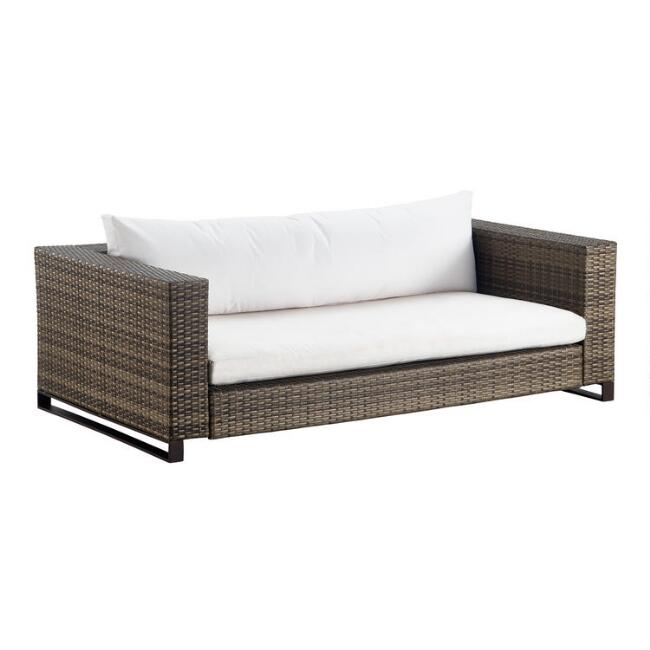 Brown All Weather Nasim Outdoor Occasional Love Seat
