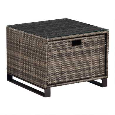 Brown All Weather Nasim Outdoor Occasional Accent Table