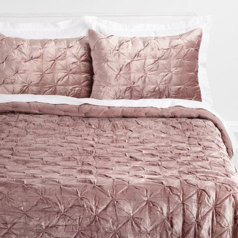 Blush Velvet Luster Bedding Set World Market