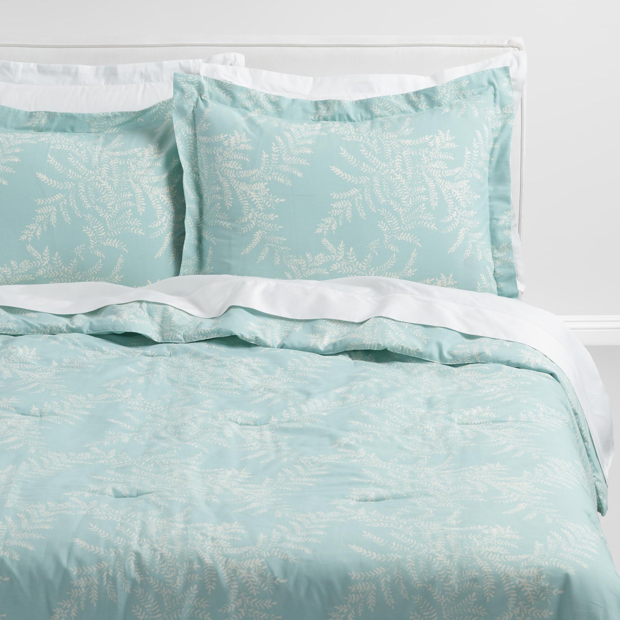 Sea Glass Aqua and Ivory Yellowstone Bedding Collection by World Market