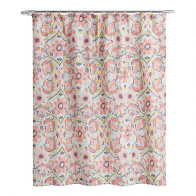 Multicolor Floral Margherita Shower Curtain