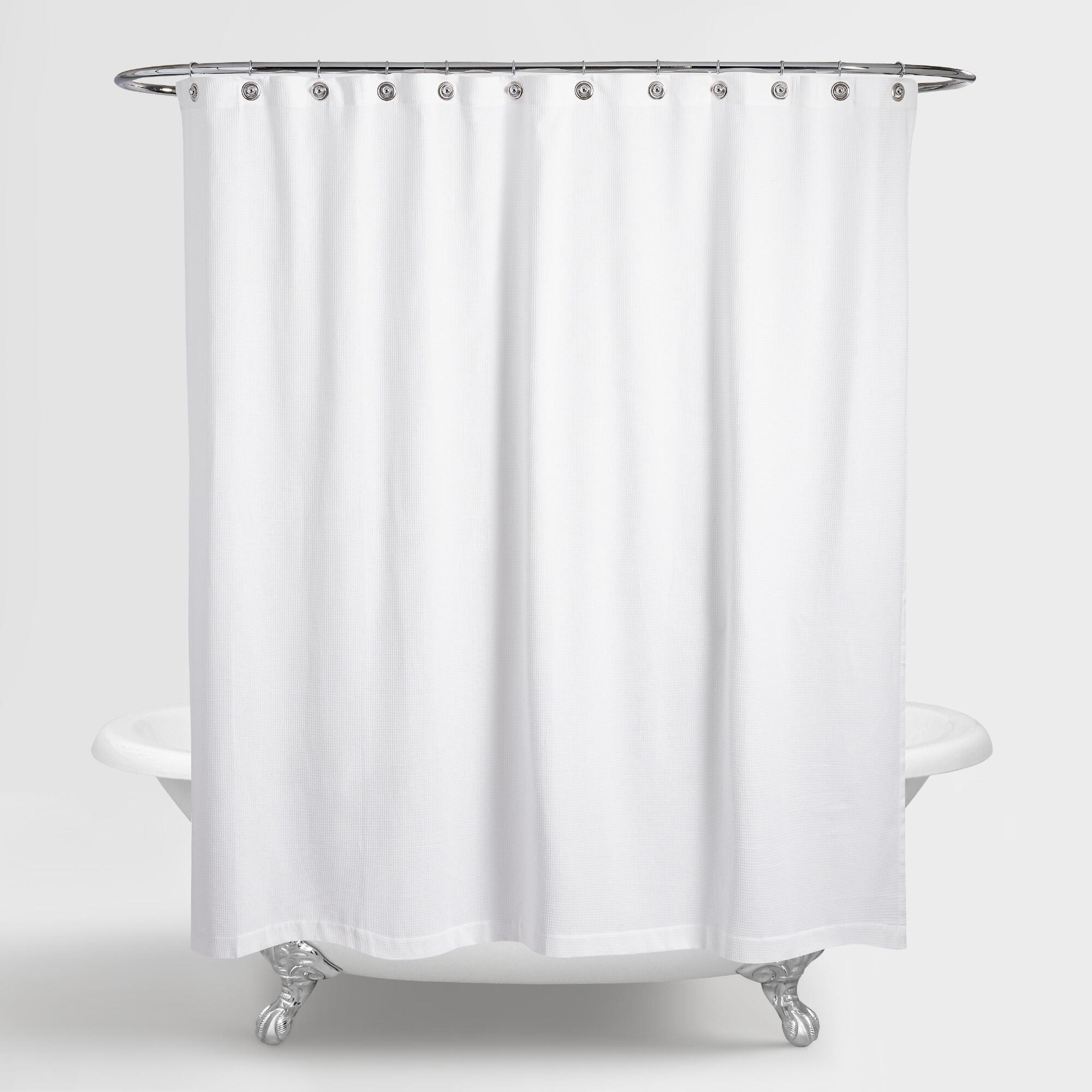shipping linen overstock metal textured shower bath orders curtain on with bedding rings faux free product clarisse over