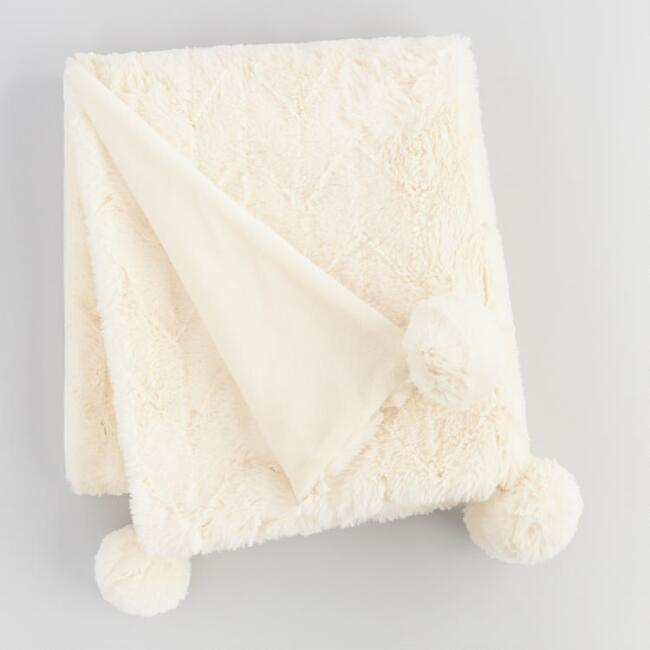 Diamond Faux Fur Throw Blanket