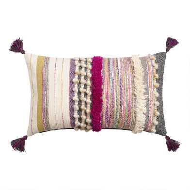 Oversized Multicolor Bouche Lumbar Pillow
