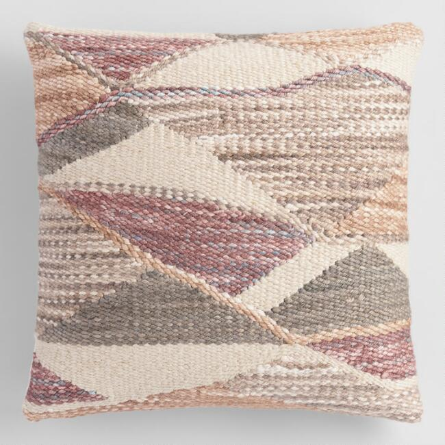 Multicolor Abstract Woven Indoor Outdoor Throw Pillow