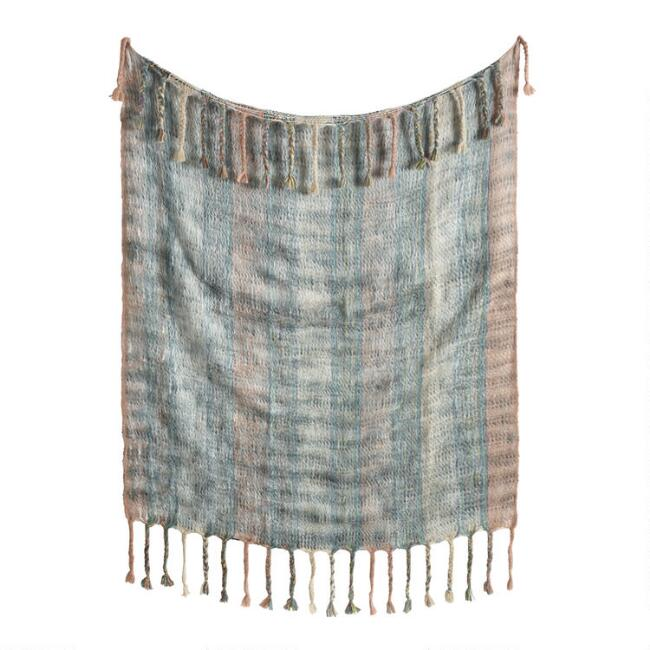 Cool Multi Stripe Boho Throw Blanket