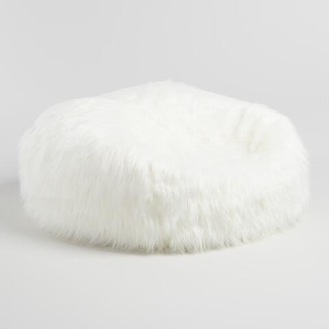 48272f3d4ff Ivory Mongolian Faux Fur Bean Bag Chair. Previous. v4. v1
