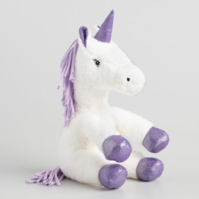 Bunnies by the Bay White Plush Stuffed Unicorn