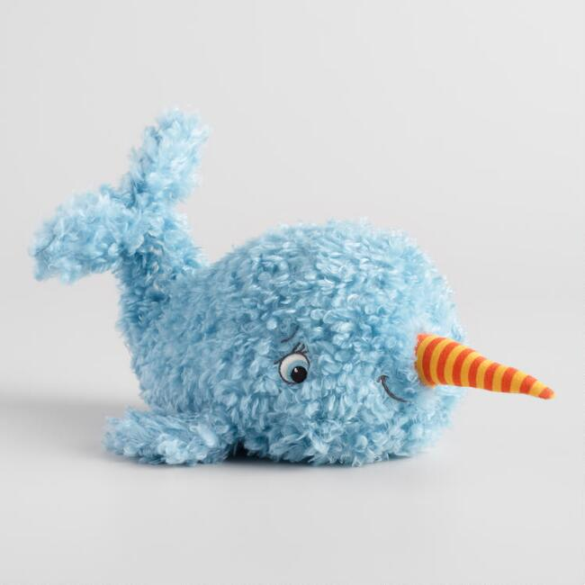 Bunnies by the Bay Curly Plush Stuffed Narwhal