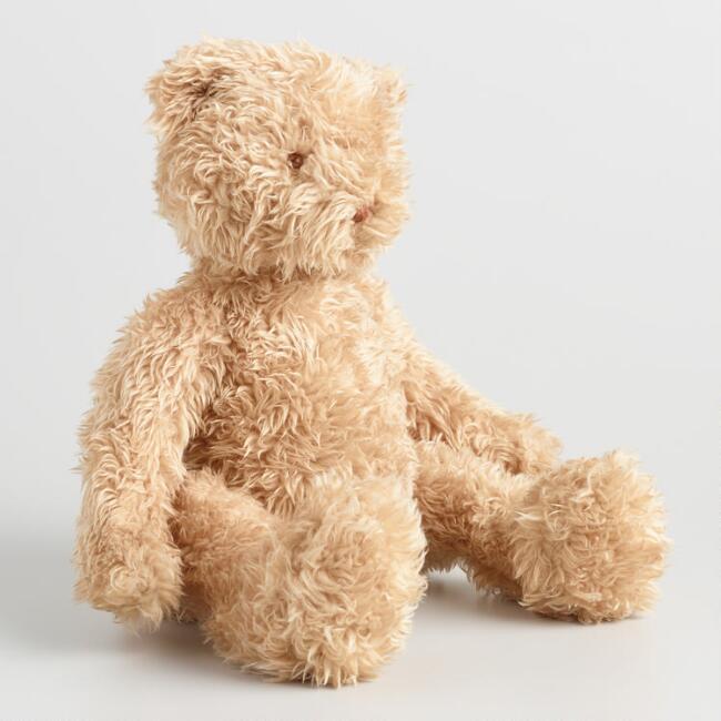 Faux Mohair Plush Stuffed Bear