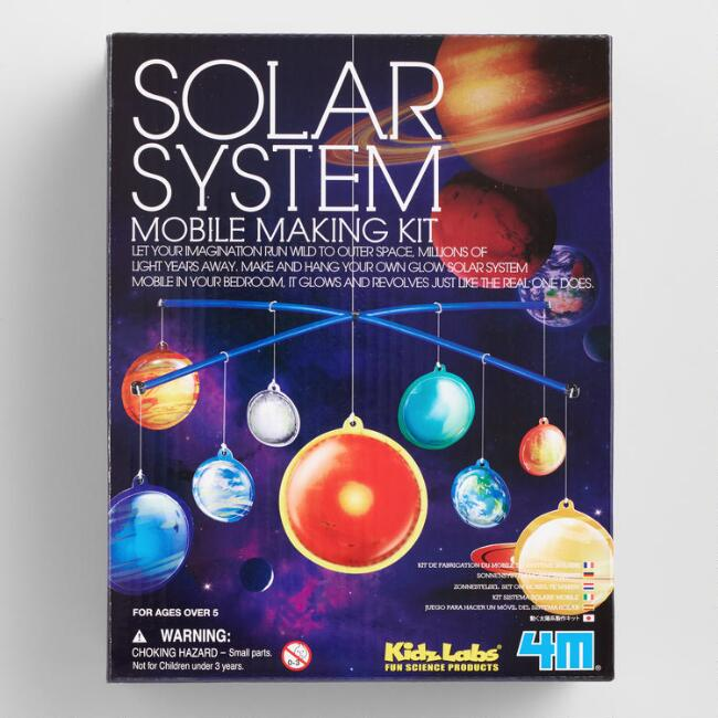 4M Kidz Labs Glow in the Dark Solar System Mobile Making Kit