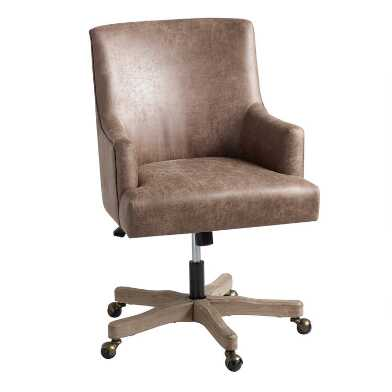 Brown Faux Leather James Upholstered Office Chair